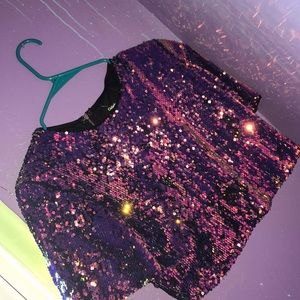 ✨ Sparkly Party Crop Top Shirt✨
